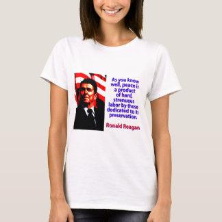 Camiseta Como você sabe bem - Ronald Reagan