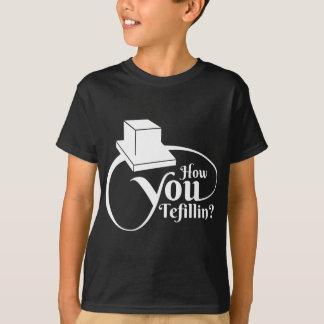 """Camiseta """"Como você Tefillin"""" (branco)"""