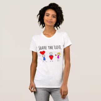 Camiseta Compartilhe do amor - t-shirt do dia dos namorados