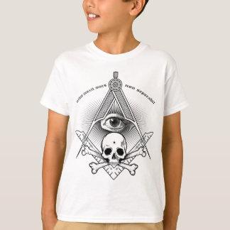 Camiseta compasso & quadrado para o pedreiro mestre moderno