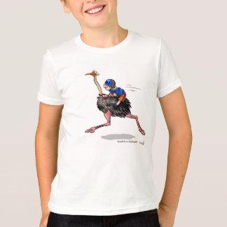 Camiseta Competindo a avestruz