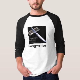 Camiseta Compositor do álbum do Whetstone - estilo do