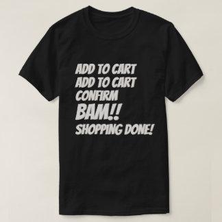 Camiseta Compra do Internet do Natal do negócio de