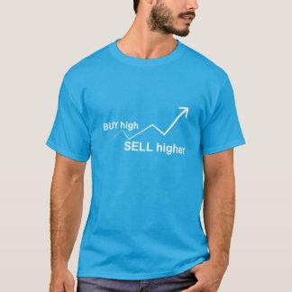 Camiseta Compre a elevação, mais alto da venda