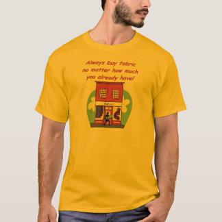Camiseta Compre sempre o tecido