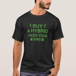 Camiseta Compre um híbrido que eu preciso seu gás