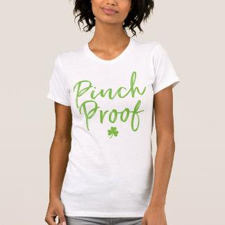 Camiseta Comprima o roteiro escrito à mão verde da prova