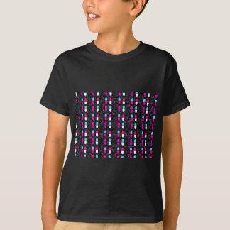 Camiseta comprimidos cor-de-rosa do brilho