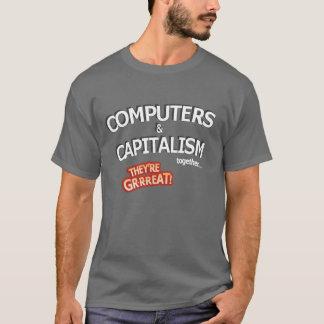 Camiseta Computadores & capitalismo - excelente!