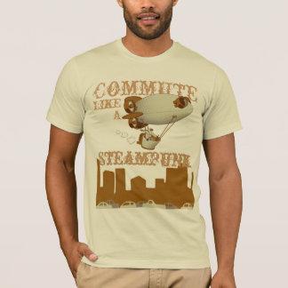 Camiseta Comute como um Steampunk