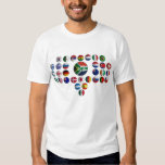 camiseta con banderas selecciones