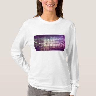 Camiseta Conceito abstrato futurista na tecnologia