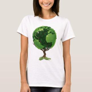 Camiseta Conceito da árvore do mundo do globo