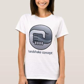 Camiseta Conceito do círculo do aperto de mão