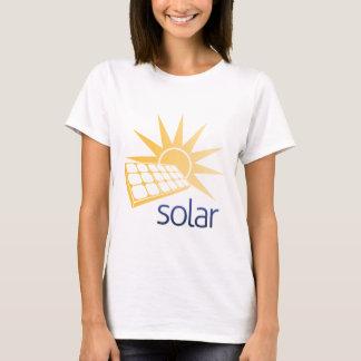 Camiseta Conceito do painel de energias solares