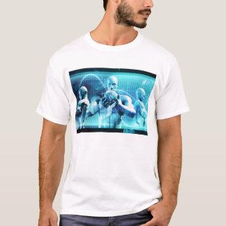 Camiseta Conceito global da conferência como um fundo