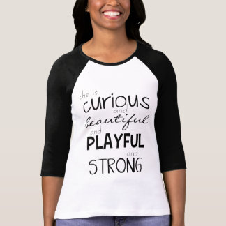 Camiseta Concessão da mulher é poderosa forte