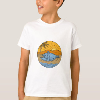 Camiseta Conch Shell na árvore de coco segunda-feira de Sun