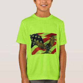 Camiseta Concorrente do Esporte-Tek dos miúdos ou t-shirt