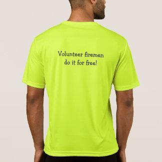 Camiseta Concorrente voluntário T dos bombeiros