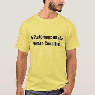 Camiseta condição humana