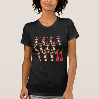 Camiseta Condução por meio de canos de 11 gaiteiros