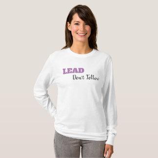 Camiseta CONDUZA, não siga o t-shirt por muito tempo