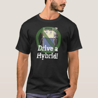 Camiseta Conduza um t-shirt híbrido