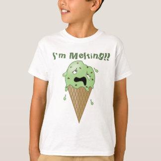 Camiseta Cone de derretimento do sorvete dos desenhos