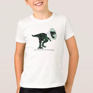 Camiseta Cone de T-Rex do T do miúdo da vergonha 2