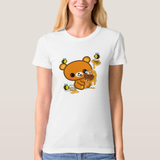 Camiseta Cone do sorvete do mel do urso da brownie