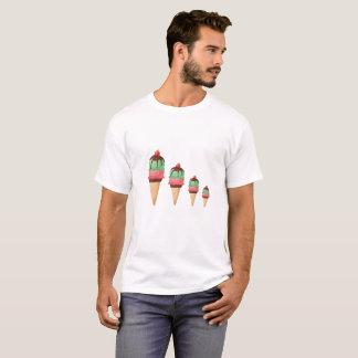 Camiseta Cones descendentes do sorvete