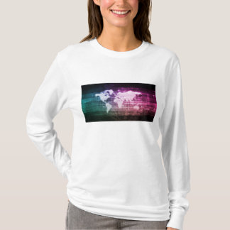 Camiseta Conexão de rede global e integrado