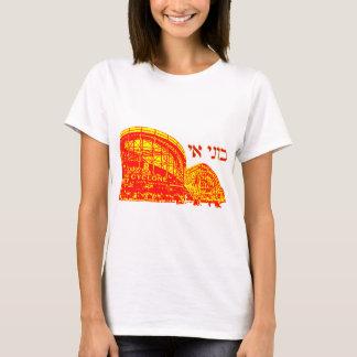 Camiseta Coney Island no hebraico