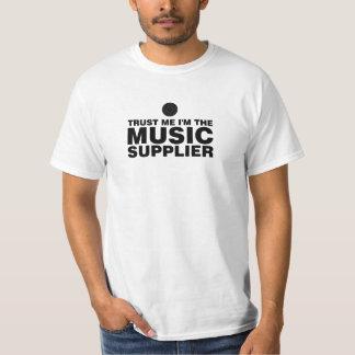 Camiseta Confie-me cor do preto do fornecedor da música
