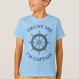 """Camiseta """"Confie-me - eu sou capitão """""""