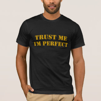 Camiseta CONFIE-ME, mim são PERFEITO