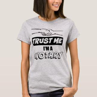 Camiseta Confie-me, mim são um aperto de mão grande do