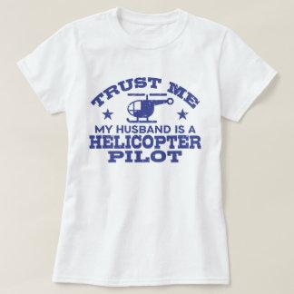 Camiseta Confie que eu meu marido é um piloto do