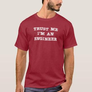 Camiseta Confie que eu mim é um engenheiro (branco)