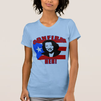 Camiseta Confirme-a com os produtos da bandeira de Puerto