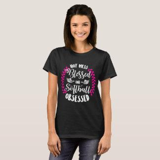 Camiseta Confusão quente e t-shirt obcecado softball