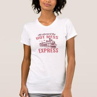 Camiseta Confusão quente expressa