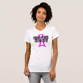Camiseta conheça Jesus, saiba a paz, nenhum Jesus, nenhuma