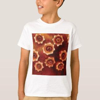 Camiseta conjunto de flor vermelho