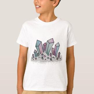 Camiseta Conjunto Pastel do cristal da aguarela