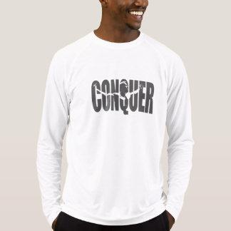 Camiseta Conquiste a luva longa cabida Esporte-Tek do