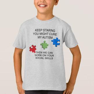 Camiseta Consciência da desordem do espectro do autismo