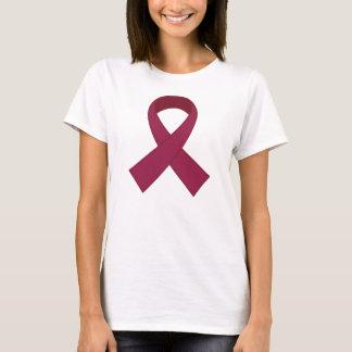 Camiseta Consciência da fita de Borgonha