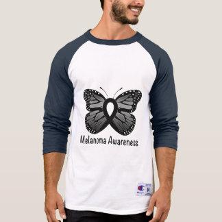 Camiseta Consciência da melanoma: Borboleta